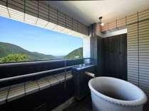 客室露天からは箱根の大自然が