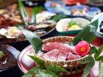 ★外庭に滝を配したお食事処ごえもん亭で食す♪絶品の伊賀牛と海鮮のあみ焼き料理♪リピーター続出★