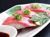 対泉閣名物の伊賀牛とろ寿司☆口入れた瞬間にとろけます