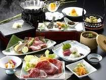 三重ブランド★伊賀牛のお料理が5品と月替わりのお料理がついた伊賀牛づくし会席。ご賞味あれ!