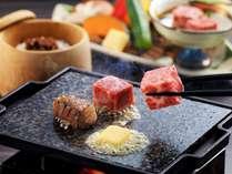 幻のお肉☆伊賀牛を贅沢に食せる宿で伊賀牛石板焼きステーキを。