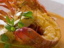 季節の料理一例~『伊勢海老のスープ仕立て』~