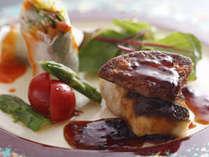 季節の料理一例~『鱸のソテーフォアグラを添えて』~