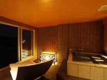 ~別邸 水の星~ 客室に設けられた専用露天風呂
