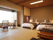 1F温泉付き客室!シモンズのベッドでぐっすりおやすみ♪