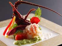 季節の料理一例~『伊勢海老のサラダ』~