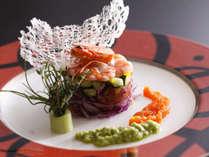 季節の料理一例~『車海老のサラダ』~