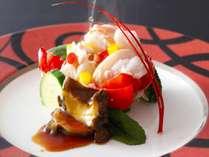 季節の料理一例『伊勢海老温サラダ』