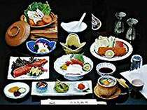 ~夕食一例~水郷潮来の郷土料理をご堪能下さい