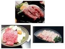 メインは豊後牛ステーキ、豊後牛焼肉、冠地どりのいずれか一つを選択できる。