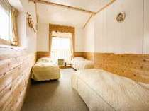 磐梯山が一望できるロフトルーム1階には3名2階には2名一番人気のお部屋