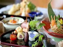 野菜の旨味を存分に生かした簡素ながらも旬の素材を使った会席料理(イメージ一部一例)