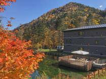 【かぜテラス】毎年10月の中旬が紅葉の見頃