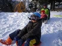 サリュスノーパークでは小さいお子様も安心して雪遊びできますよ。