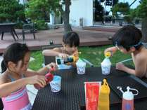 【7/18~8/22限定:お部屋食】かき氷♪シロップ・練乳かけ放題!夏の思い出を作ろう!