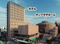 サンプラザホールと仙台サンプラザ(ホテル)は、隣接しております。