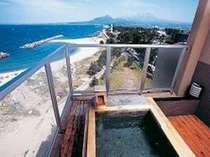 13畳和室、日本海&大山を望む露天風呂(一例)「特別階8階」