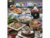 少量美味会席(一例) 通常会席より量を3割減、その分高品質な食材にしました。