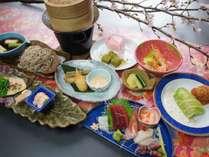 *料理一例/旬の食材を使った、海の幸たっぷりのお食事です♪