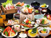 海の幸満載のお料理をお部屋でのんびりお部屋でどうぞ!(写真はご夕食の一例です)