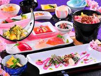 地元食材・信州食材にこだわり、料理長が一つ一つの調理にこだわる創作会席料理が人気の秘密。【春】