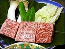 当館自慢の一品【飛騨牛サイコロステーキ】とっても柔らかいですよ。