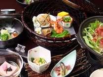 季節の食材を味わう和風ディナーをコースで(一例)
