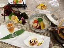 季節の食材を味わう和風ディナーをコースで(写真は一例です)