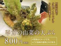 別注料理!!季節の山菜の天婦羅