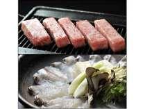 飛騨牛ステーキ&鯛しゃぶしゃぶプランのイメージ