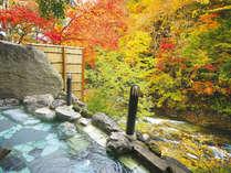 絶景紅葉渓谷の露天風呂