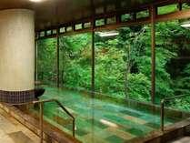 大きな窓からは四季折々の湯西川の大自然が望めます。