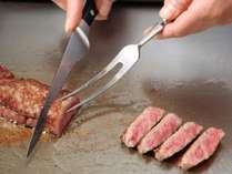 鉄板焼「七つ森」:目の前でダイナミックに仕上げる鉄板焼ステーキ