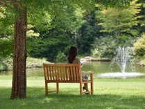 【 春~夏 】お気に入りの場所を見つけたら、時間を気にせずガーデンでゆっくりとした時間を