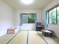 和室大部屋。4名様まで宿泊できます。