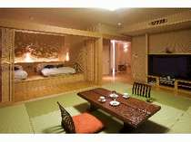 露天風呂付客室一例「風」