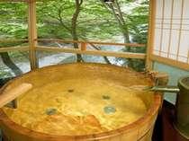 【露天風呂客室】『緑のお風呂』自然豊かな緑に囲まれたて