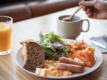 【朝食】新鮮な八ヶ岳のお野菜を中心としたメニュー