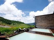 夏の露天風呂:どこまでも広がる自然の開放感