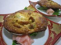 望水荘名物の大浅利味噌焼き郷土料理の煮味噌をイメージした好評の一品です