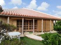 東江屋庭ではバーベキューなどでご利用いただけます。各棟にお庭があります。