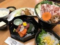 【夕食付き】1ドリンクサービス+ボリューム満点!!!日替わり定食&和洋朝食バイキング【A定食】