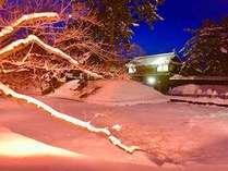 弘前城の雪灯篭祭り(^^)まるで冬に咲く奇○の桜みたいでるよ