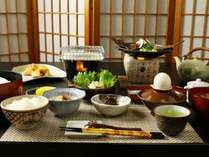 当館でお出ししている朝食の全体イメージです(季節などによりメニューが異なる場合がございます)