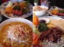 街の中華レストラン【レッドランタン】の料理例(選べる夕飯〔中華〕プランのレストラン)