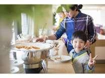【朝食会場】ブッフェスタイルの人気の朝食です☆