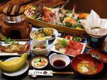 ★【旅館海鮮コース】常陸牛しゃぶに新鮮な魚介がたっぷりの船盛とタコの釜飯が嬉しい♪