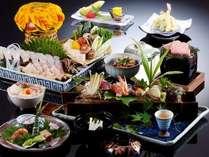 【梅しゃぶ会席】さっぱりしたダシに、旬の魚をくぐらせてお召し上がりください。