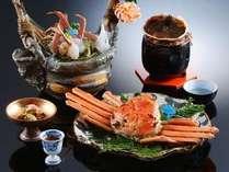 【津居山蟹】当館から港までは車で5分。活きた蟹を新鮮なうちに調理します。極上の味を堪能ください。