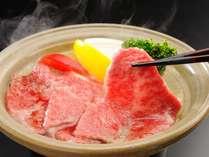 クリスマスプランのメインディッシュ仙台牛の陶板焼き(一例)